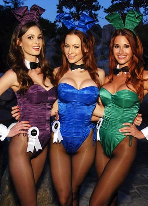Real-life playboy bunnies.