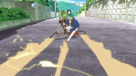 Kanamori Sayaka 金森さやか, parodying the bike slide from Akira アキラ.