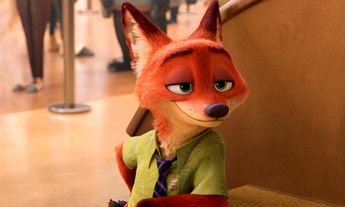 Nick Wilde, example of half-closed eyes, han-me 半目.