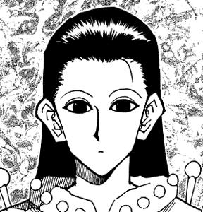 illumi Zoldyck イルミ゠ゾルディック, example of beta-me ベタ目.