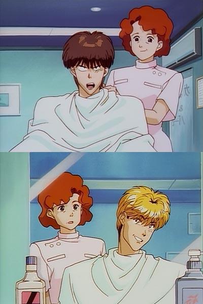 金髪にしてパーマをかけてください 本当にいいの?高校でしょ いいんです。外国にはたくさんいますから