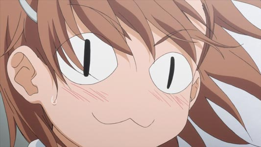 Misaka Mikoto 御坂美琴, example of cat face.