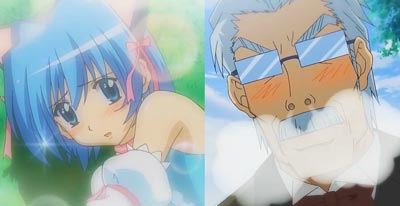 Ayasaki Hayate 綾崎ハヤテ, and Klaus Seishirou 倉臼征史郎, who fell in love with him crossdressing.