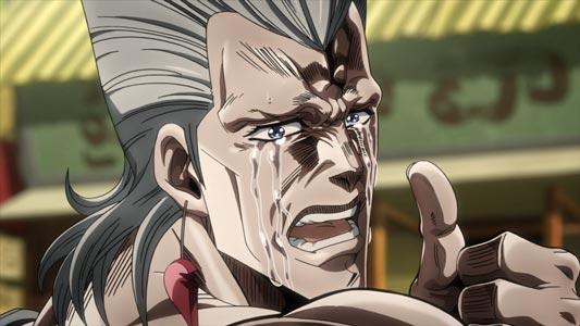 Jean-Pierre Polnareff ジャン=ピエール・ポルナレフ, crying.
