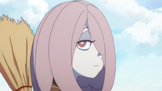 Sucy Manbavaran スーシィ・マンババラン, example of character with dark circles under her eyes.