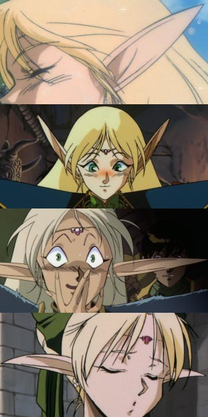 Deedlit ディードリット, example of elf ears.