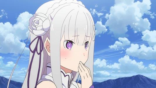 """Emilia エミリア, example of """"half elf,"""" haafu-erufu ハーフエルフ."""