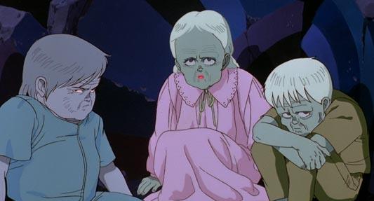 Masaru マサル, Kiyoko キヨコ, and Takashi タカシ, a trio of ESPers from Akira.
