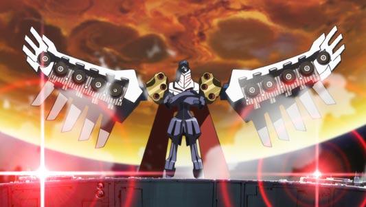 Buster Machine #27: Vingt-Sept, バスターマシン・ヴァンセット(27号) doing a Gainax stance (ガイナ立ち).