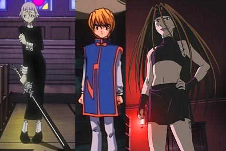 Crona クロナ, Kurapika クラピカ, Envy エンヴィー, example of characters whose gender is unknown or barely known.
