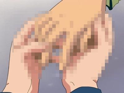 Shindou Hikaru 進藤ヒカル and Touya Akira 塔矢アキラ holding hands. Lewd.