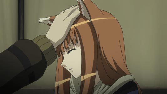 Holo, ホロ, getting head patted.