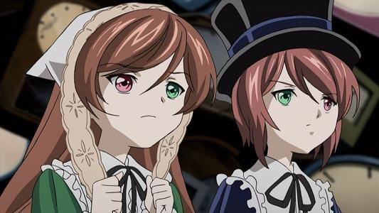 The twins Suiseiseki 翠星石 and Souseiseki 蒼星石, example of heterochromatic eyes.