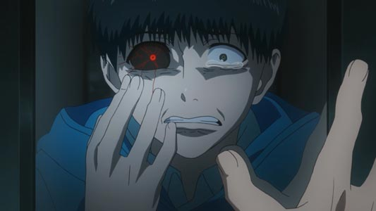 Kaneki Ken 金木研, example of heterochromatic eyes.