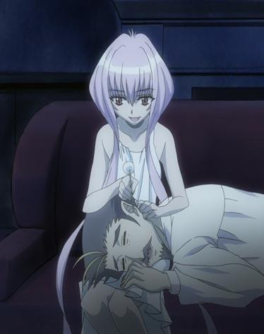 "Elda Maaka エルダ・マーカー offering a lap pillow for Henry Maaka ヘンリー・マーカー, example of hizamakura 膝枕, and ""ear cleaning,"" mimi-kaki 耳かき."