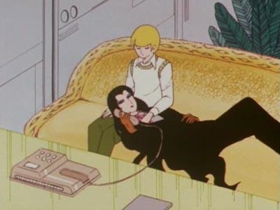 "Jack Barbarossa Bancoran ジャック・バルバロッサ・バンコラン, resting on a ""lap pillow,"" hizamakura 膝枕."