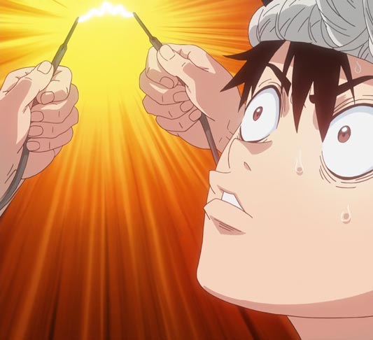 "Chrome クロム, example of an idea ""Edison's light bulb,"" Ejison no denkyuu エジソンの電球."