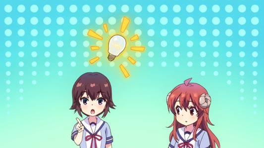 Yoshida Ryouko 吉田良子 has an idea, example of idea light bulb.