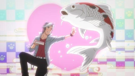 "Kuramochi Bull 倉持ブル. Example of a Japanese pun using homonyms: koi 恋, ""love,"" and koi 鯉, ""carp."""