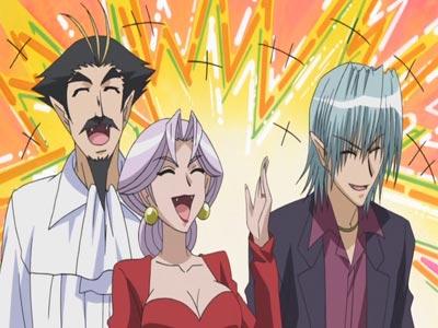 Henry Maaka, ヘンリー・マーカー, Carrera Maaka, カレラ・マーカー, and Maaka Ren 真紅煉 laughing, example of laughter lines.