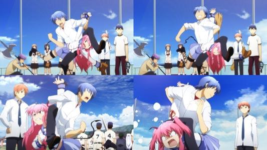 Hinata Hideki 日向秀樹 puts Yui ユイ in octopus hold, manji-gatame 卍固め, during a baseball match.