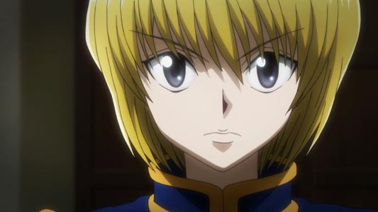 "Kurapika クラピカ, example of nekome ネコ目, ""cat eyes,"" eye shape."