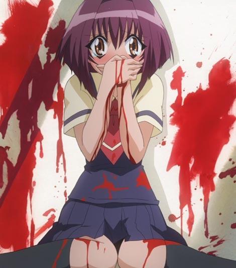 Maaka Karin 真紅果林, example of explosive nosebleed.