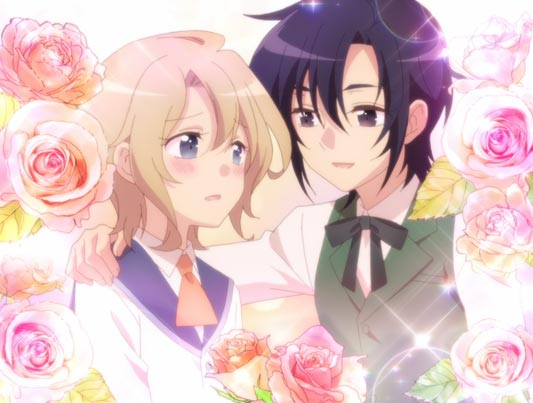 Keith Claes, キース・クラエス and Nicol Ascart, ニコル・アスカルト, pictured roses in the background, implying a gay relationship.