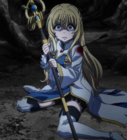 """Priestess,"" Onna Shinkan 女神官, pissing herself in fear."