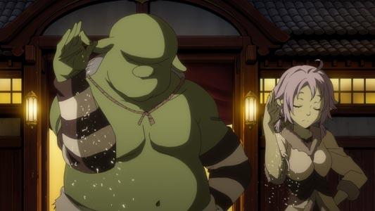 Gob'ichi, ゴブイチ and Haruna ハルナ, example of salt bae parody.