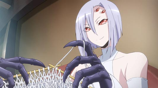 Rachnera Arachnera ラクネラ・アラクネラ, example of six-eyed character.