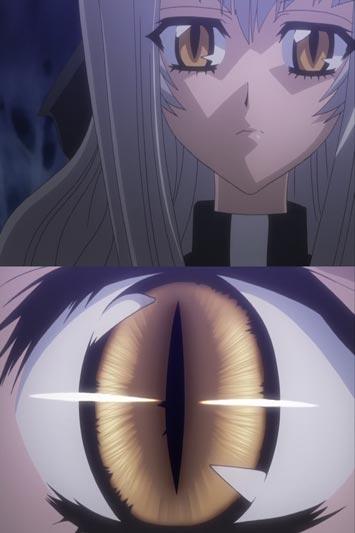 "Maaka Anju 真紅杏樹, example of ""snake eyes,"" hebi-me ヘビ目."