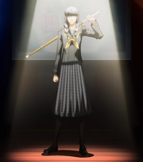 Narukami Yuu 鳴上悠, crossdressing as female delinquent, sukeban スケバン.