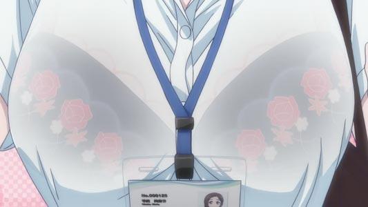 Kouhai-chan 後輩ちゃん, example of suke-bura 透けブラ, bra visible through clothes.