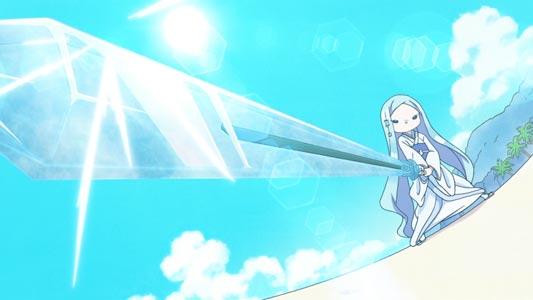 Kouji 浩二 holding an ice sword in Sunrise stance (サンライズ立ち).