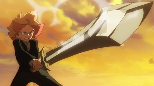 Amanda O'Neill, アマンダ・オニール, holding a sword in Sunrise stance (サンライズ立ち).