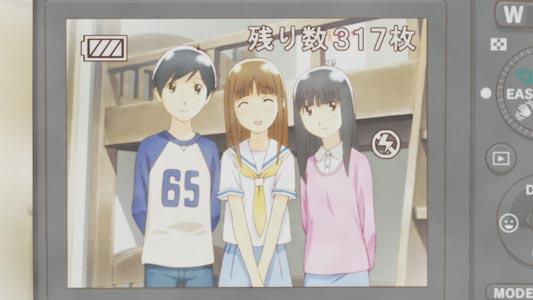 Takatsuki Yoshino 高槻よしの, Nitori Shuuichi 二鳥修一, Chiba Saori 千葉さおり, example of transgender characters.