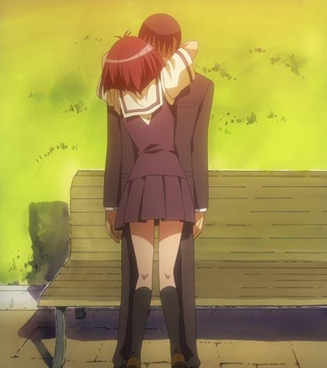 Maaka Karin 真紅果林 biting a salaryman.